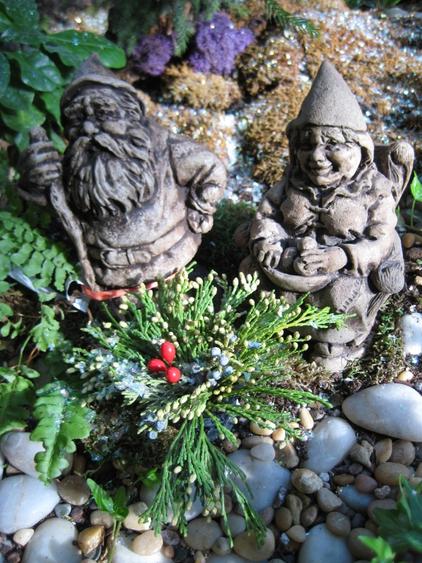 Trolls with spruce tip pot