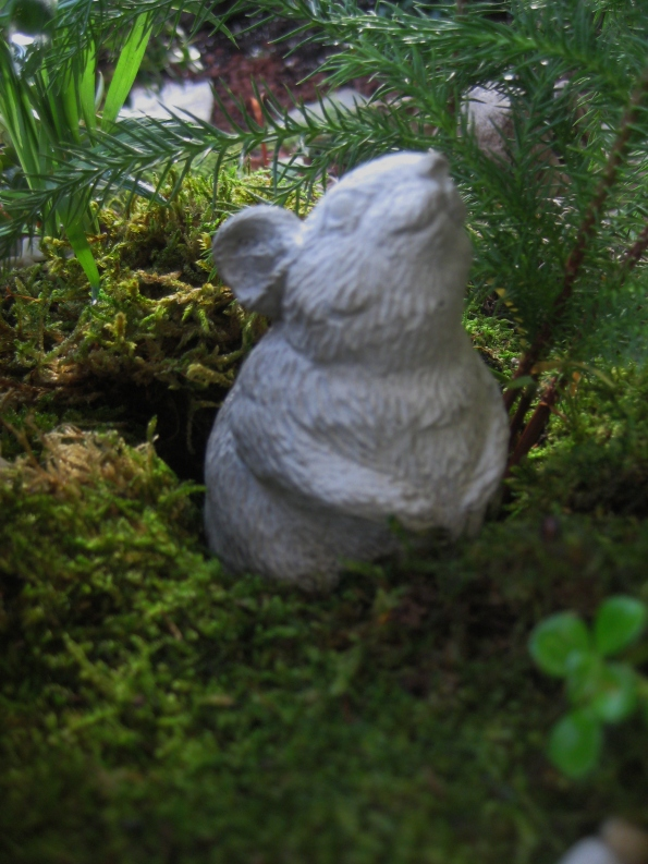 Giant mouse in thegarden